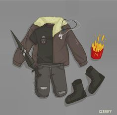 Mc Donald's hahha. Nico di Angelo's clotes. By czarryy