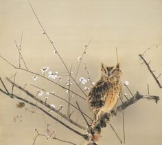 Early Plum Blossoms, 1936, Nishimura Goun / 西村五雲. Japanese (1877 - 1938) Adachi Museum of Art.