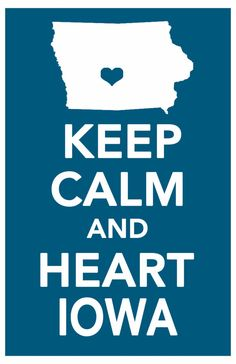 keep calm print iowa art poster all 50 states in by ThePickleShop