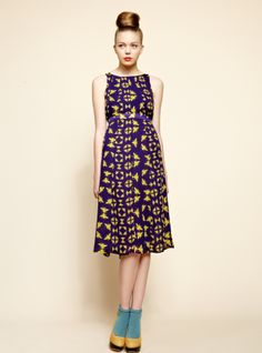 Young British Designers - Bee Panel Dress by Charlotte Taylor / Clothing / Dresses