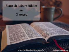 Ministério Enlace: Plano de leitura Bíblica em 3 meses