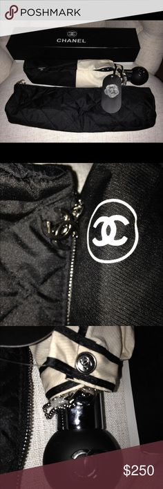 Chanel Umbrella VIP Edition Brand new Chanel VIP edition accessory every girl needs when it's wet! Fastest shipping CHANEL Accessories