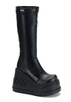 Amazon.com: Women's Demonia STOMP 300 Platform Boots BLACK 9 M: Shoes