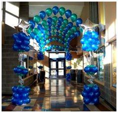 balloon entrance tunnel