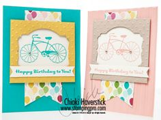 August Stamp-A-Stack #2: Cycle Celebration