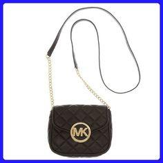 5b30413279 MICHAEL Michael Kors Fulton Quilt Small Crossbody Black Leather - Crossbody  bags (*Amazon Partner