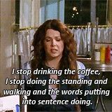 This was me when I was in Greece... Too bad we didn't have as many coffee breaks as we did bathroom breaks... =)