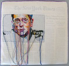Newspaper Embroidery: Lauren DiCioccio Turns Current Events Into Works Of Art