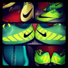 My Mercurial Glide II's... #Volt #Nike #Soccer