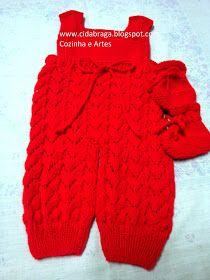 Amei fazer essa jardineira e sapatinho...para um bebê que vai chegar muito querido e abençoado.. a receita tirei do blog Mimos em trico beb...