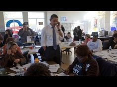 Barack Obama joined volunteers at Obama HQ in Kansas City to call some folks to make sure they get out and vote. October 17, 2008
