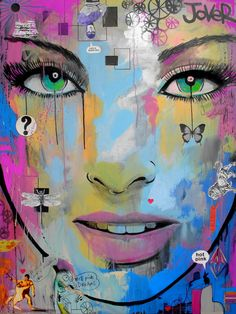 '' hot pink dreams '' mixed media on canvas painting
