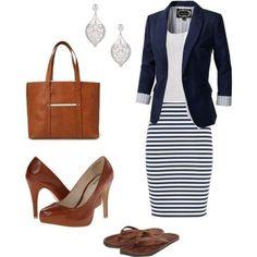 Dream dress outfits - teacher on a budget mode moda, atuendo Mode Outfits, Office Outfits, Dress Outfits, Casual Outfits, Striped Outfits, Teacher Outfits, Navy Outfits, Work Dresses, Summer Outfits