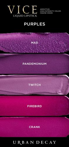 Can't get enough purple? Check out these shades of Vice Liquid Lipstick and more available now at Vice Liquid Lipstick, Purple Lipstick, Gloss Lipstick, Lipstick Shades, Lipstick Colors, Lip Colors, Makeup Swatches, Makeup Dupes, Lip Makeup