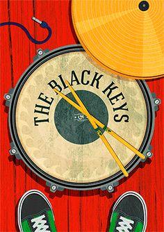 https://www.behance.net/gallery/24000561/Black-Keys-Poster