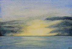 Sky and Ocean II - Watercolor Painting