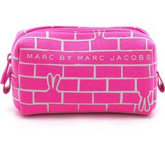 Marc by Marc Jacobs No 1 Neoprene Brick Bunnies Cosmetic Case found on Polyvore