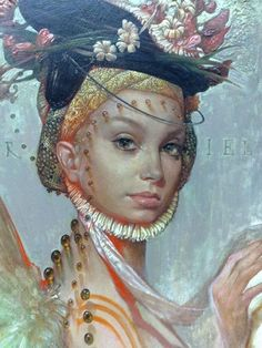 "yolk-of-the-sun: Zeljko Tonsic - ""Uriel"" Enchanted Kingdom, Portraits, Realism Art, Magazine Art, Great Artists, Female Art, Illustration Art, Illustrations, Fantasy Art"