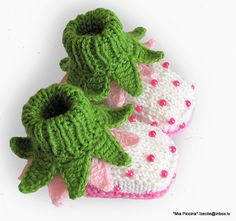 Baby booties Flowers Fairy Booties by MiaPiccina on Etsy, $19.00