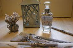 Baptism/Christening Oil Set/Ladoset/Set of Three Candles, Oil Bottle, Soap/Greek Orthodox Baptism Oil Candles, Oil Bottle, Linen Fabric, Christening, Glass Vase, Floral, Handmade, Etsy, Decor