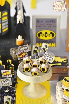 Batman Birthday Party via Kara's Party Ideas | KarasPartyIdeas.com (16)