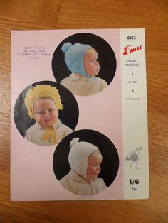 Baby Helmet Hats Emu Knitting Pattern 4 by BelieveToBeBeautiful