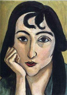 Head of Lorette with Curls, 1917  Henri Matisse
