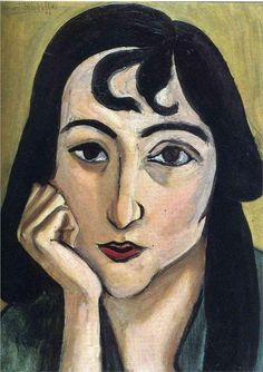 Head of Lorette with Curls, 1917  Henri Matisse