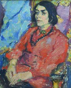 Else Lasker-Schüler (11 februari 1869 - 22 januari 1945)  - Portret door Lene Schneider-Kainer, ca. 1914/15