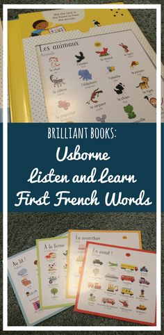 Brilliant Books: Usborne Listen and Learn First French Words - Pears and Chocolate Sauce
