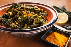 Middle Eastern Kale Salad with Red Palm Oil (Vegan) | Millennial-Kitchen.com