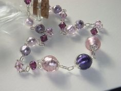 Pink and Purple Pastel Necklace by Baublebys on Etsy, $32.00