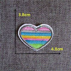 FairyTeller Fashion Good-Looking Red Heart Patch Hot Melt Adhesive Applique Embroidery Patch Diy Clothing Accessory Patch C436-C2076 ** Read more at the image link.