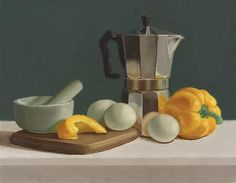 "Susan Fern | OIL | ""Still Life with Yellow Bell Pepper"""