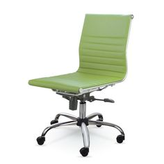 MID-BACK LEATHER CONFERENCE OFFICE CHAIR MZN6912 (Green)