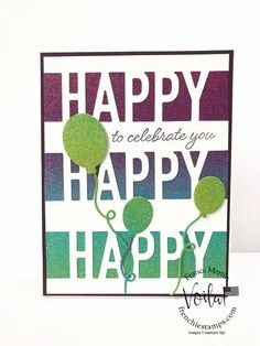 Tip for the Happy Die by Stampin\'Up! coordinate with the So Much Happy Stamp Set. Simple ways to layer. All product are available at frenchiestamps.com #HappyDie #SoMuchHappy #TipVideo #stampinup #stamping #FrenchieStamps #CardMaking #PaperCrafts #HandMadeCards #PaperCrafting #StampingTechniqueHowToVideo Fun Fold Cards, Cute Cards, Birthday Cards, Happy Birthday, Die Cut Cards, Greeting Cards Handmade, Stampin Up Cards, Are You Happy, Cardmaking