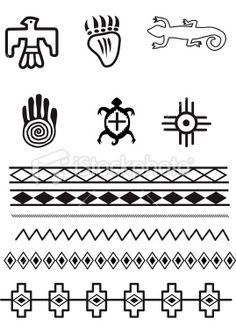 5 Best Images of Printable Native American Symbols - Native American Symbol Meanings, Native American Indian Animal Symbols and Native American Symbols and Meanings Native American Animals, Native American Patterns, Native American Symbols, Native American Design, Native American Crafts, Native Design, American Indian Art, Native American History, American Indians