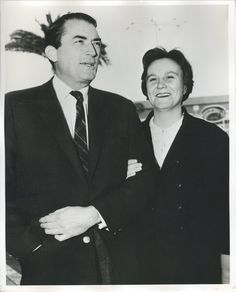 Gregory Peck and Harper Lee. The entire cast and crew of the film To Kill A Mockingbird would remain like family.