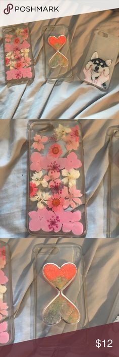 3 iPhone 7+ cases All only used a couple times and all bought off amazon Accessories Phone Cases