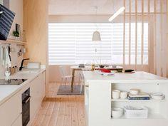 Sorpréndete con las últimas tendencias para las cocinas - Nuevo Estilo Loft, Corner Desk, Bed, Cabinet, Living Room, Storage, Table, Furniture, Home Decor