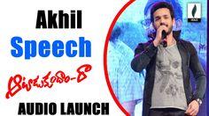 Akhil Full Speech At Aatadukundam Raa Audio Launch - Venusfilmnagar