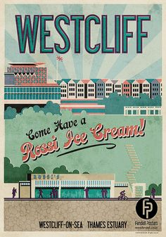Westcliff Poster A4 & A2 sizes by FendellPosters on Etsy