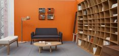 Modern Home Decor with Curved Bookcase