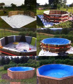 Bazén z palet