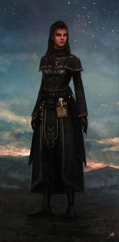 Commission - Namirah by Aerenwyn.deviantart.com on @deviantART [wizard, sorcerer, oracle, witch] Dark Fantasy, Fantasy Women, Fantasy Rpg, Medieval Fantasy, Fantasy Girl, Dnd Characters, Fantasy Characters, Female Characters, Fantasy Figures