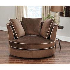 Sams: Sydney Round Swivel Chair