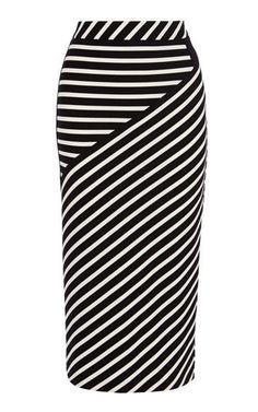 Buy Karen Millen Stripe Jersey Skirt, White/Black from our Women's Skirts range at John Lewis & Partners. White Midi Skirt, Black And White Skirt, Stripe Skirt, Black White, Striped Skirt Outfit, Skirt Midi, Karen Millen, Sewing Clothes Women, Jersey Skirt
