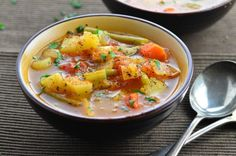 A super fragrant vegetable soup that will fill your house with wonderful aromas.