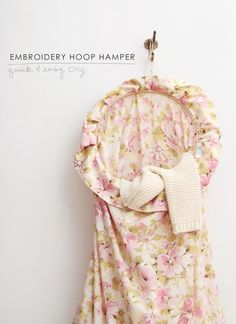 Pinned Via on Squirrelly Minds | Embroidery Hoop Hamper from Making Nice in the Midwest