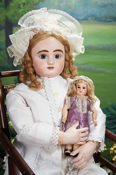 What Frolicks Are Here: 262 Grand French Bisque Bebe Steiner, Figure B, Size 20, with Rare Bisque Hands